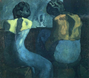 Image: http://www.wikiart.org/en/pablo-picasso/two-women-sitting-at-a-bar-1902 (per wikiart.org fair use explanations)