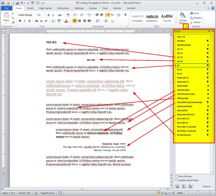TEI Coding Template for Word.dotx - Microsoft Word